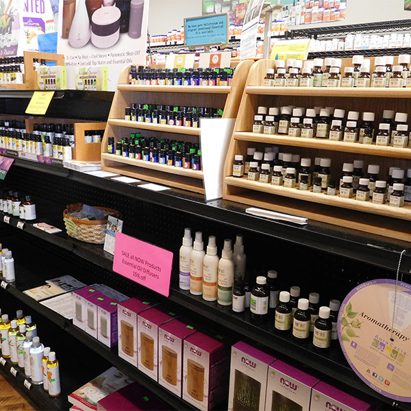 We have three brands of very high quality pure essential oils and oil blends. We carry over one hundred varietals and have some very unique botanical blends. We carry a full compliment of carrier oils, roller and spray bottles and many different kinds of diffusers.