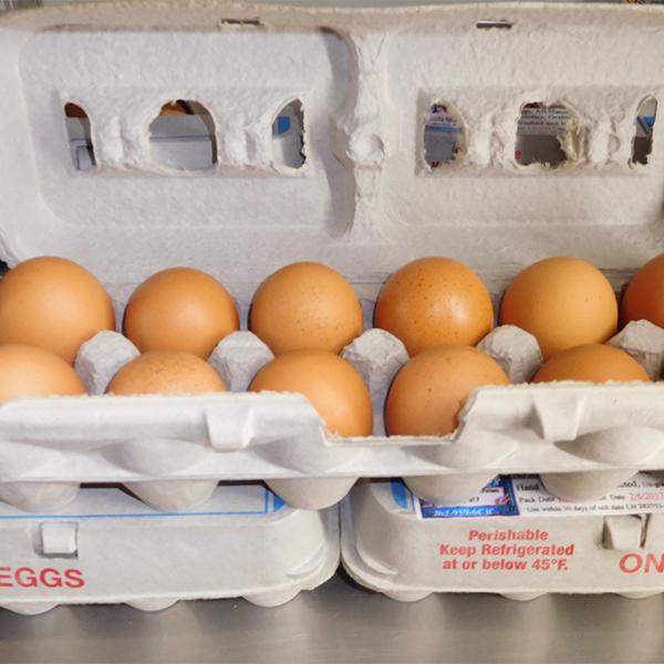 Sherwood Farms organic free range eggs